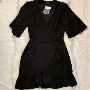 Topshop Ruffled Wrap Dress